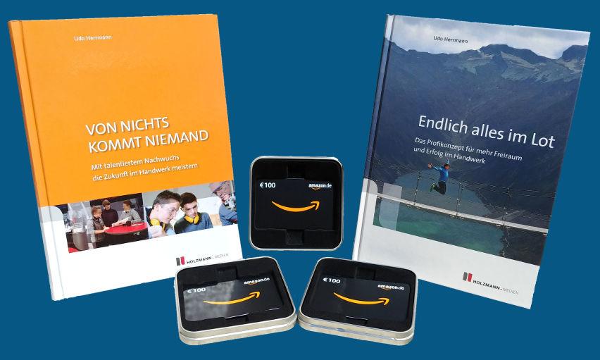 Amazon-Gutscheine und Bücher von Udo Herrmann gewinnen